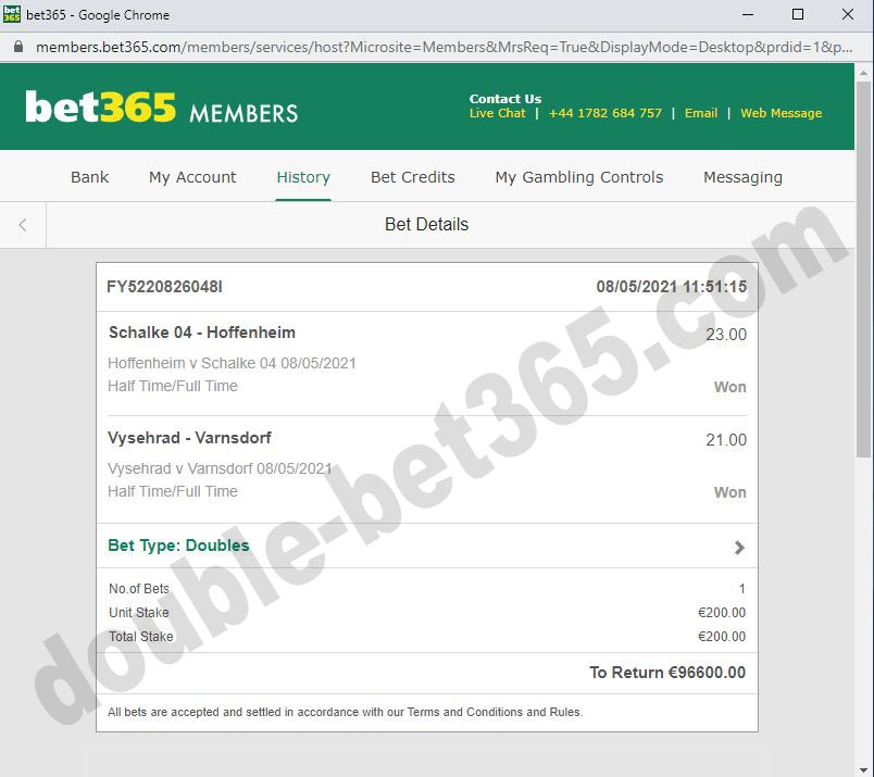 bet double fixed secure ticket
