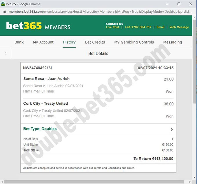 double fixed bets 100%